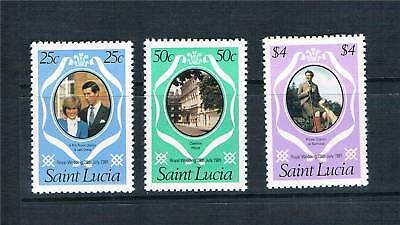 St Lucia 1981 Royal Wedding P.12 SG 576/8 MNH