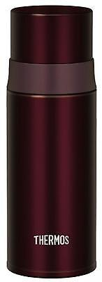 Thermos water bottle stainless slim bottle 0.35L Brown FFM-350 BW