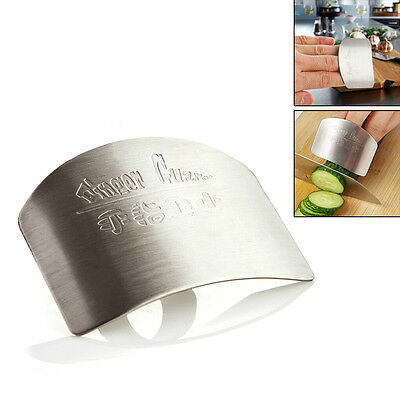 Finger Hand Protector Guard Slice Chop Shield Stainless Steel Kitchen Cook Tool