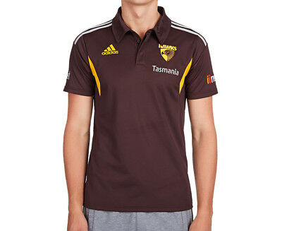 Adidas Men's Hawthorn FC Media Polo - Earth