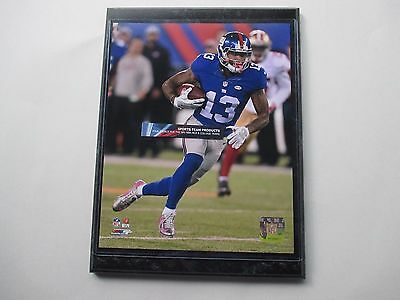 """Odell Beckham Jr. Ny Giant Giants Action Photo Mounted On A """"9 X 12"""" Plaque"""