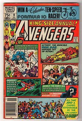 MARVEL Comics AVENGERS  #10 Annual king size X men  1st App Rogue