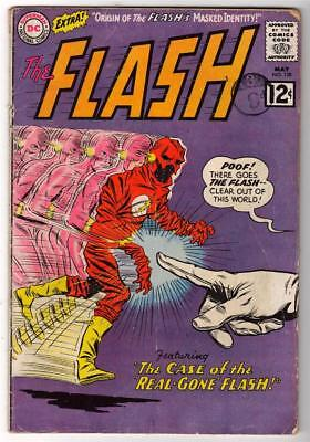 DC Comics VG FLASH  #128 JLA  batman 1961  Real gone flash