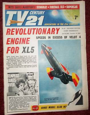 Tv 21 #39 Century Fireball Xl5 Stingray Thunderbirds Daleks Colour Dr Who