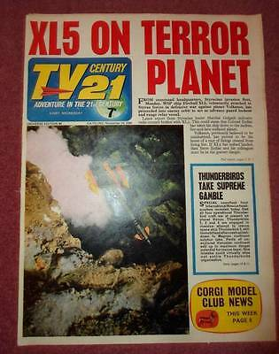Tv 21 #96 Century Fireball Xl5 Stingray Thunderbirds Daleks Colour Dr Who