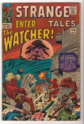 Marvel Comics FN  STRANGE TALES #134 WATCHER FANTASTIC FOUR  AVENGERS hulk