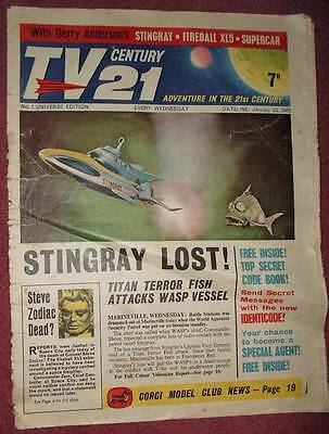 Tv 21 #1 Century Free Gift Identicode Fireball Xl5 Stingray Thunderbirds  Dr Who