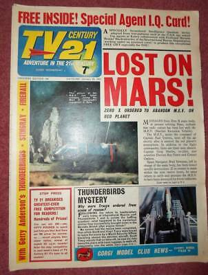 TV 21 #106 CENTURY FREE GIFT Special IQ CARD FIREBALL XL5 STINGRAY THUNDERBIRDS
