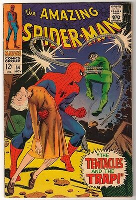 MARVEL Comics SPIDERMAN SILVER age #54 1967 DR OCTOPUS APP STORY AMAZING