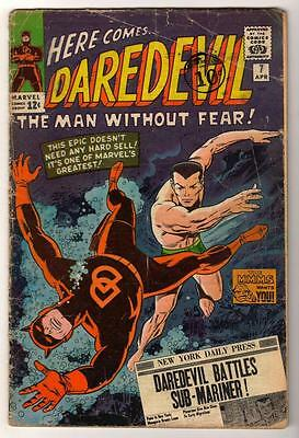 MARVEL Comics DAREDEVIL  #7 VG- 1965  1st Red Costume Classic