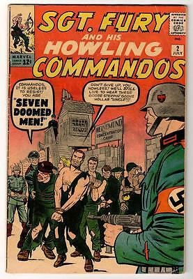 MARVEL Comics SGT FURY Commandos nick SIGNED STAN  JACK KIRBY + COA #2