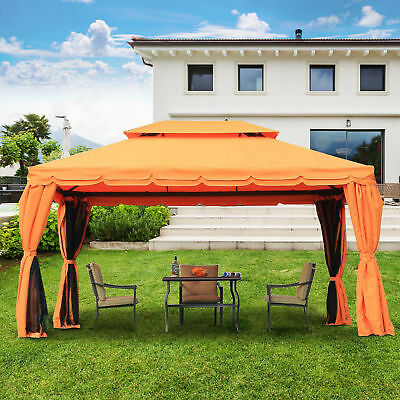 outsunny luxus pavillon gartenpavillon partyzelt gartenzelt polycarbonat alu top eur. Black Bedroom Furniture Sets. Home Design Ideas