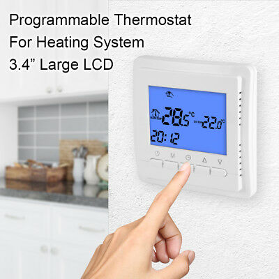 Programmable Thermostat Digital Floor Heating Room Air Warm Controller BI635