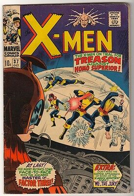 Marvel Comics VG+  X MEN  #37  1965