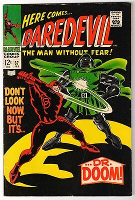 MARVEL Comics DAREDEVIL CENT COPY VOL 1 Issue 37 FN- 1968 DR DOOM APP