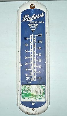 "Vintage PACKARD MOTOR CARS Advertising Thermometer Metal SIGN 27"" x 8"" USA Made"