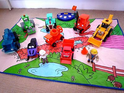 Bob The Builder Bundle 8 Vehicles 2 Figures And Large Play Mat With Sounds