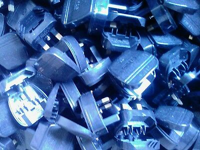 200x 2 Pin Euro to  UK 3 Pin Mains Fused Plug Converters Adapter Wholesale price