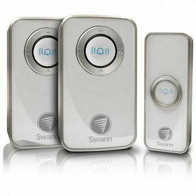 Swann Twin Pack Wireless Door Chime / Door Bell with Mains Power SWHOM-DC820P2