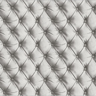 Arthouse Desire Silver Grey Leather Headboard Faux Quilted  Wallpaper 618104