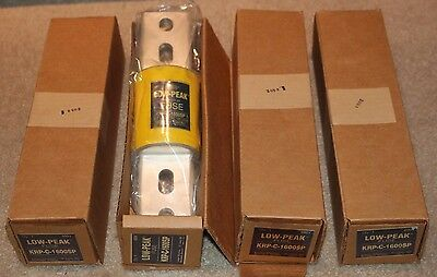 Buss Low Peak Fuse Time Delay KRP-C-1600SP 600 Volt New in Box 4 Available