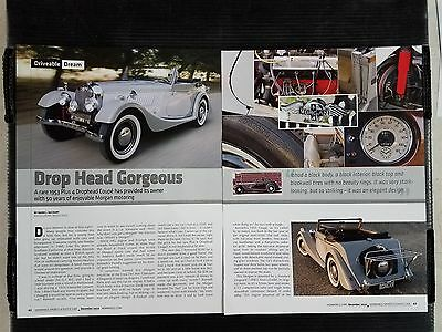 1953 Morgan Plus 4 Drophead Coupe - 6 Page Article - Free Shipping