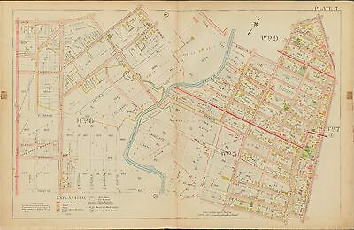 ROBINSON FANWOOD SCOTCH PLAINS UNION COUNTY NEW JERSEY PLAT ATLAS MAP 1906 E