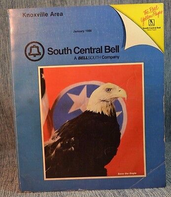 Vintage Phone Book:  South Central Bell Knoxville Tennessee Area 1986