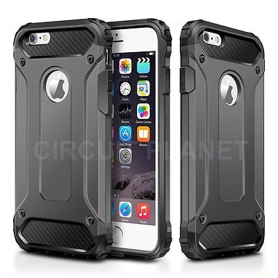 Hybrid Shockproof Hard Heavy Duty Case Cover For Iphone 7 Plus Grey 05