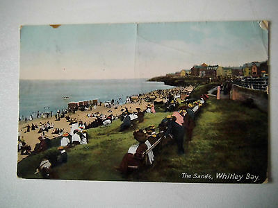 The Sands Whitley Bay Early 1900s Old Postcard 1911