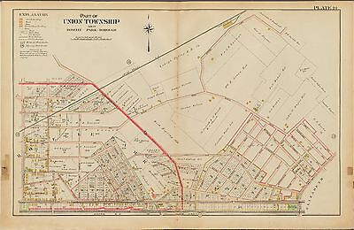 1906 Union Township New Jersey Elmora Station Summer Av - Westfield Av Atlas Map