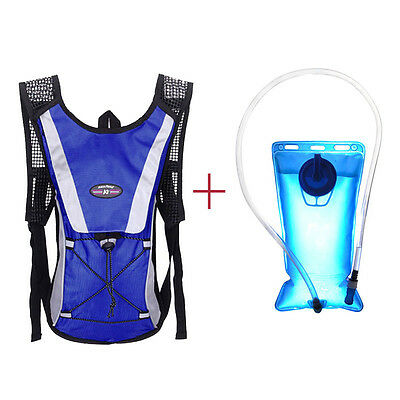 Water Bladder Bag Backpack+Hydration Packs Hiking Camping 2L
