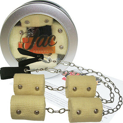 """Pair of Jac Products Double 65mm Kevlar Wick Chain Fire Poi 22-30"""" poi spinning"""