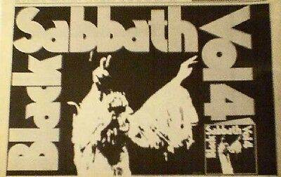BLACK SABBATH Volume 4 1972  UK Press ADVERT 12x8 inches