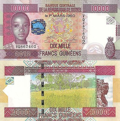 Guinea 10000 Francs (2012) - Woman/Jug/Rock Formation/p46