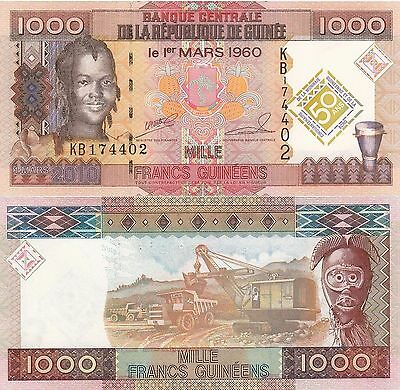 Guinea 1,000 Francs (2010) - Girl/Commemorative/p43 UNC