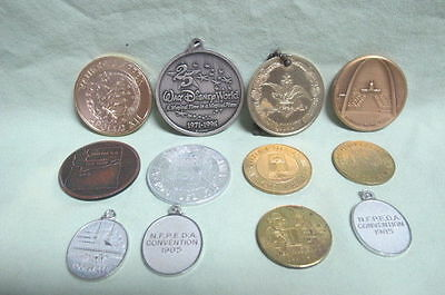 Vintage lot of 12 Medals and Tokens