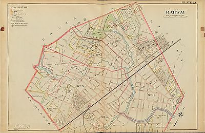 1906 Rahway Union, New Jersey, Milton Lake Lakeside Park Atlas Map