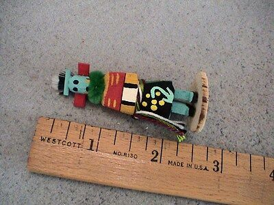 Auth.Native American Indian Mini Wood Carrier Kachina by Colleen Parker