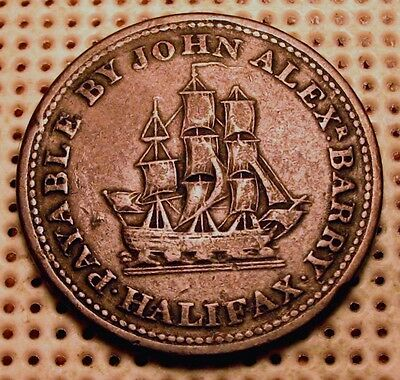 Old Canadian Coins Rare 1815 Breton  # 891 Half Penny Token Free Ship Us And Ca