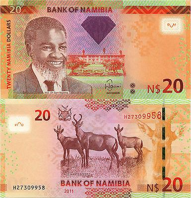Namibia 20 Dollars (2011) - Red Hartebeest/p12a UNC
