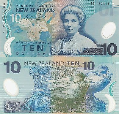 New Zealand 10 Dollars (2013) - Katherine Sheppard/Ducks/p186-New UNC