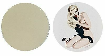 Pin Up Girl Black Gloves Metal Golf Ball Marker Disc 25Mm Diameter