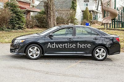 Advertising space available on car. Ad Space on car