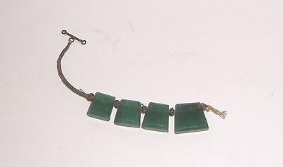 Antique Primitive  Natural Green Stones Jewelry Remnant