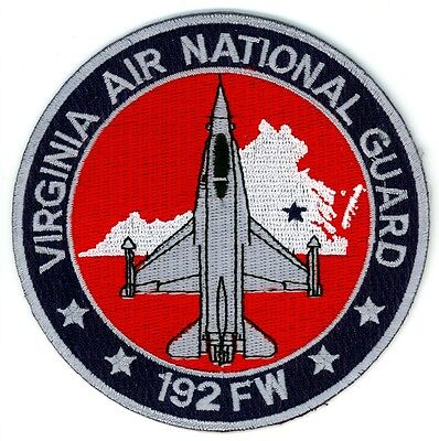 Vintage 192 FW Virginia U.S. Air National Guard Patch USAF