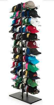 Black 12 Tier Sport Cap Tower Display Rack Holds up to 240 caps