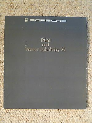 1985 Porsche Full Line Color Chart Showroom Advertising Sales Folder RARE!! L@@K