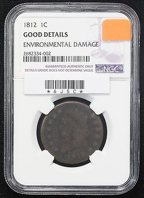 1812 Large Cent NGC G-4 Env. Damage