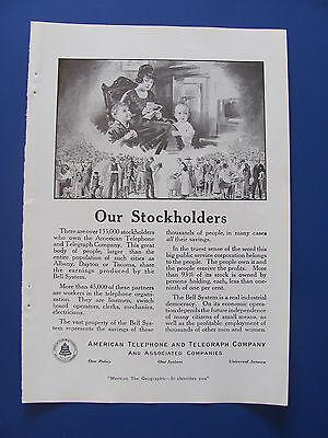 1919  American Telephone & Telegraph Company Our Stockholders Ad